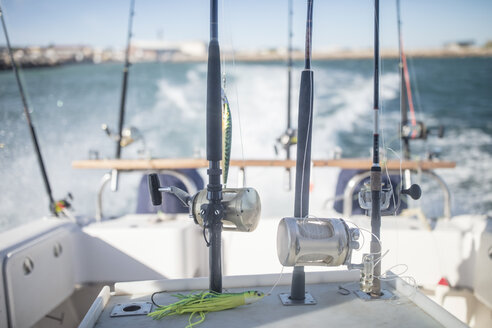 Fishing rods on moving boat - ZEF11753