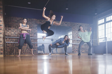 Female hip hop dancers performing in studio - ZEF11775