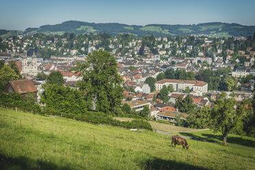 Switzerland, St Gallen, view to the city from Drei Weieren - KEBF00424