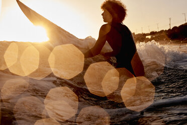 Surfer in the sea at sunset - WESTF22068