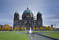 Germany, Berlin, view to Berliner Dom with television tower in the background - GFF00882