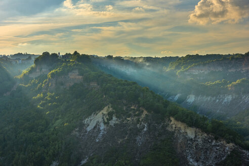 Italy, Lazio, badlands at sunset - LOMF00445