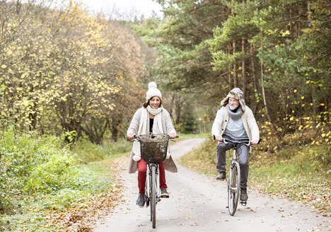 Senior couple doing a bicycle trip - HAPF01175
