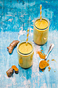 Two glasses of curcuma milk - LVF05661