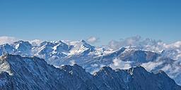 Germany, Bavaria, Allgaeu, Allgaeu Alps as seen from Hoefatsblick summit station at Nebelhorn - WGF01008