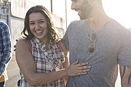 Happy young couple outdoors - WEST22164