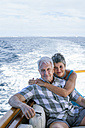 Smiling couple on a boat trip - WESTF22236