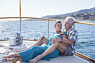 Affectionate couple on a boat trip - WESTF22251