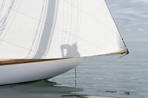 Close-up of sailing boat on lake - SH01901