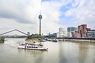 Germany, Duesseldorf, view to Rhine Tower and Media harbour - VT00573