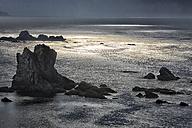 Spain, Asturias, The cliffs of El Silencio Gavieira near Cudillero - DSGF01285