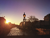 France, Alsace, Strasbourg, old town, sunset - GWF04922