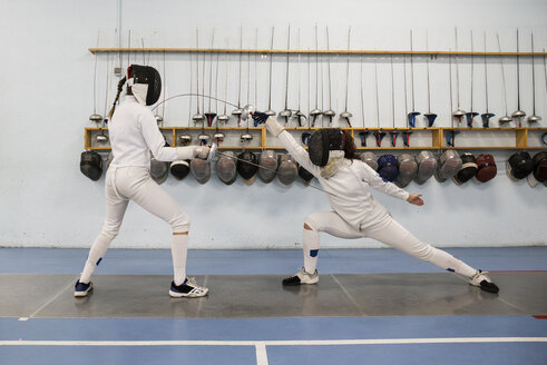 Female fencers during a fencing match - ABZF01614