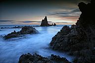 Spain, Almeria, rocky volcanic coastline of Cabo de Gata Natural Park - DSGF01359