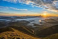 Italy, Marche, Apennines, San Vicino at sunrise in autumn - LOMF00456
