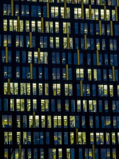 Part of facade of office building in the evening - EJWF00815