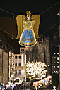 Germany, Nuremberg, angel figurine hanging over Christkindlmarkt - SIE07231