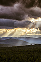 USA, Virginia, dramatic skay over Blue Ridge Mountains at twilight - SMAF00617