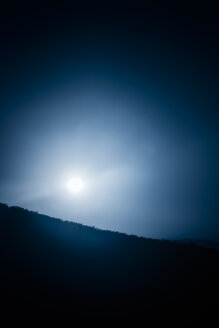 USA, North Carolina, Blue Ridge Mountains, Blue Moon over Pisgah Forest - SMAF00632