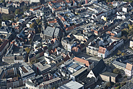 Germany, Zwickau, aerial view of old town with St Mary's Cathedral - HWOF00178