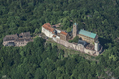 Germany, Eisenach, aerial view of Wartburg - HWOF00181