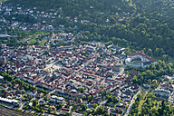 Germany, Meiningen, aerial view of the old town with Elisabethenburg Castle - HWOF00193