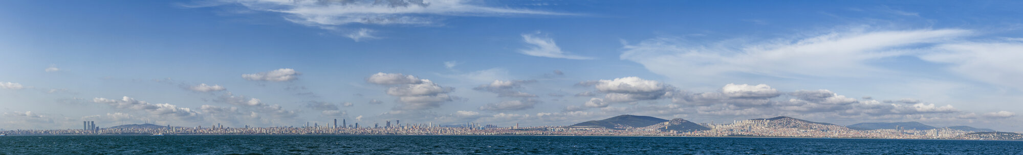 Turkey, Istanbul, panoramic view to the city from Sea of Marmara - BZF00360