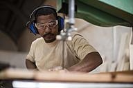 Craftsman working in wood work - ZEF11924