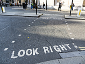 UK, London, City of London, marking on the road - AM05158