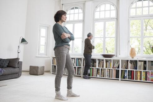 Mature couple at home having a quarrel - RBF05410