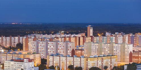 Slovakia, Bratislava, view to Petrzalka at night - WDF03840