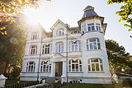 Germany, Usedom, Ahlbeck, hotel at backlight - SIEF07234