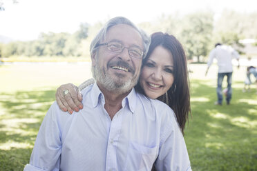 Portrait of smiling senior couple outdoors - ZEF12350