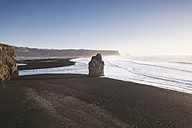 Iceland, South Iceland, Vik Rock on Reynisfjara beach - EPF00226