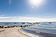 Germany, Schleswig-Holstein, moored motorboats on Baltic Sea - EGBF00171