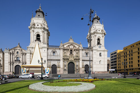 Peru, Lima, Plaza de Armas, Cathedral of Lima - FOF08604