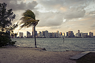 USA, Florida, beach and skyline of Miami - CHPF00362