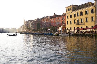 Italy, Venice, gondola at Grand Canal at sunset - XCF00121
