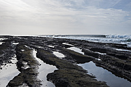 Spain, Teneriffe, black lava beach - SIPF01285