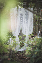 White curtain in old greenhouse - ASCF00688
