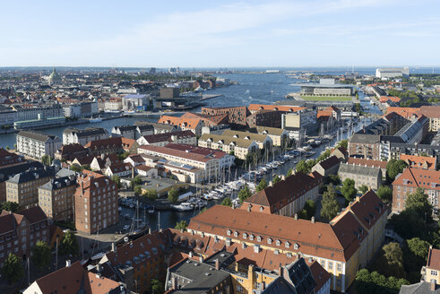 Denmark, Copenhagen, view to the city from Cathedral of Christ the Saviour - HWO00199