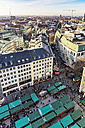 Germany, Munich, view to Viktualienmarkt from above - THA01884
