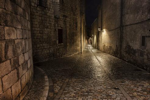Spain, Girona, Pujada del Rei Marti at night - ABOF00142