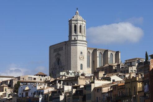 Spain, Girona, view to Cathedral of Santa Maria - ABOF00145