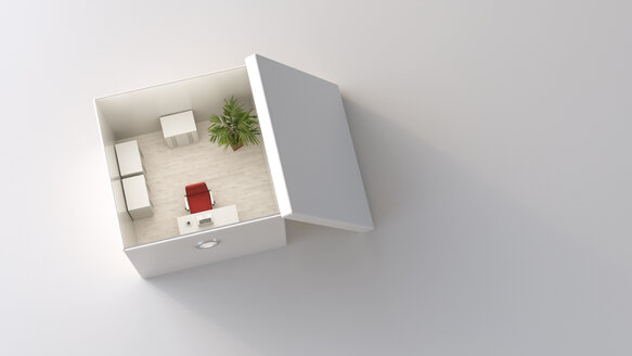 Office in a box, 3D Rendering - UWF01106