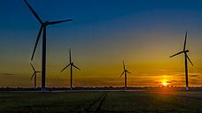 Wind farm at sunset - MHF00413