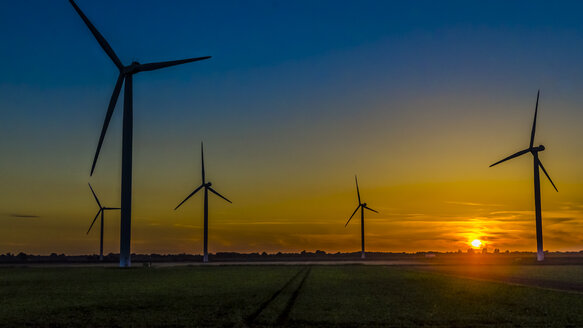 Wind farm at sunset - MHF00413