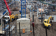 Concrete pump and other machinery on construction site - ZEF12469