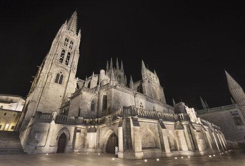 Spain, Burgos, Burgos cathedral at night - DHCF00048