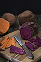 Various sliced sweet potatoes - YFF00616